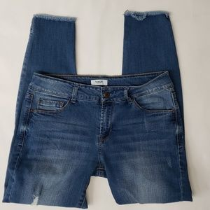Kenzie Medium Wash Destructed Skinny Jeans 6/28